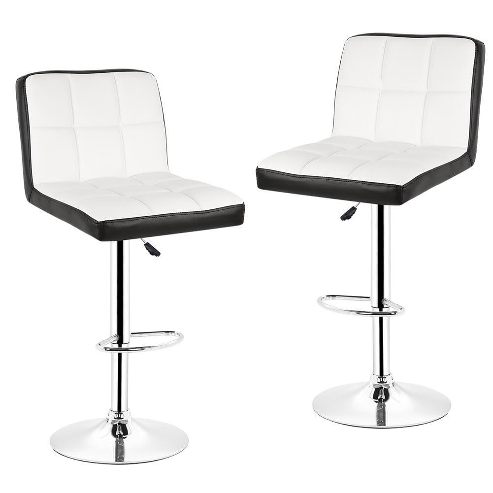 mainlandbrands, 10pcs Fashion Bar Chairs Soft PU Leather Swivel Stool  Adjustable Lift Stool Bar Rotating Chair Without Handle Home Furniture HWC  (10pcs)